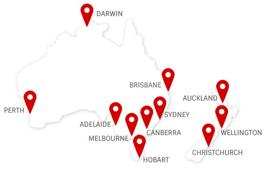 corporate cars Australia map